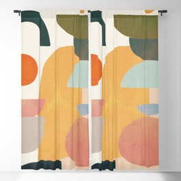 Modern Abstract Art 70 Blackout Curtain