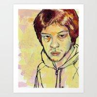 danny ivan Art Prints featuring Ivan by dvhstudios