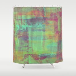 Humility - Mixed Colour Abstract Shower Curtain