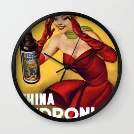 Vintage China Pedroni Advertising Wall Art Wall Clock