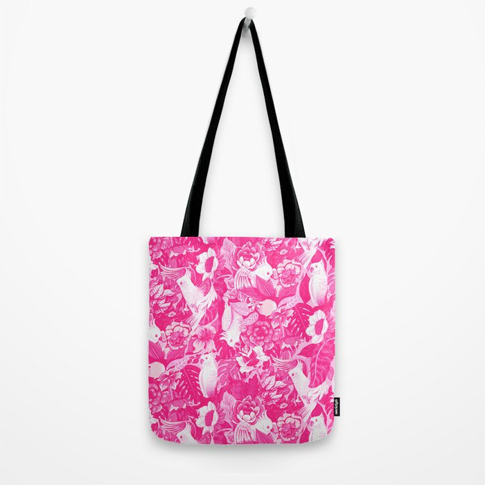 Florida Tapestry - monochrome pink Tote Bag