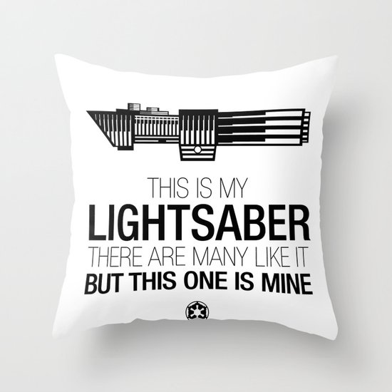 This is my Lightsaber (Vader Version) Throw Pillow
