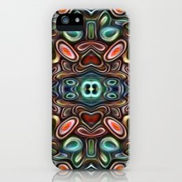 The Jubes - repeating pattern of small candy like glass shapes iPhone Case