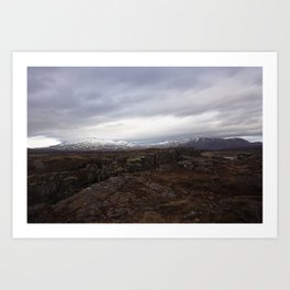Continental drift - Thingvellir National Park Art Print