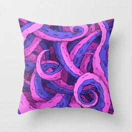 Toxic Tentacles Throw Pillow