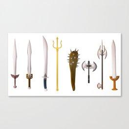 Tools of the trade Greek mythology Titans Clash Canvas Print