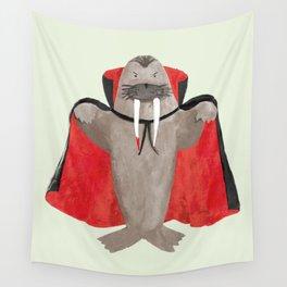 Vampire Walrus Wall Tapestry