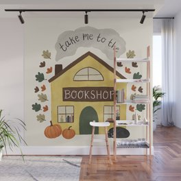 Take Me to the Bookshop Wall Mural