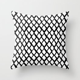 Rhombus White And Black Throw Pillow