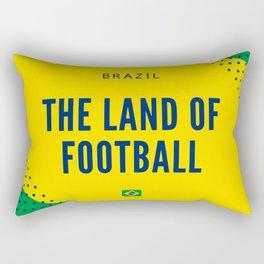 Brazil the Land of Football Rectangular Pillow