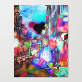 Boston Lights Remix Canvas Print