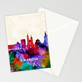 Krakow Skyline Stationery Cards