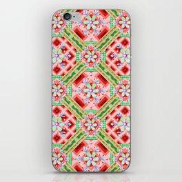 Groovy Folkloric Snowflakes iPhone Skin