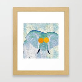 Elephant Baby Pop Art Framed Art Print