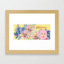 Imperfection is BEAUTIFUL (Yellow) Framed Art Print