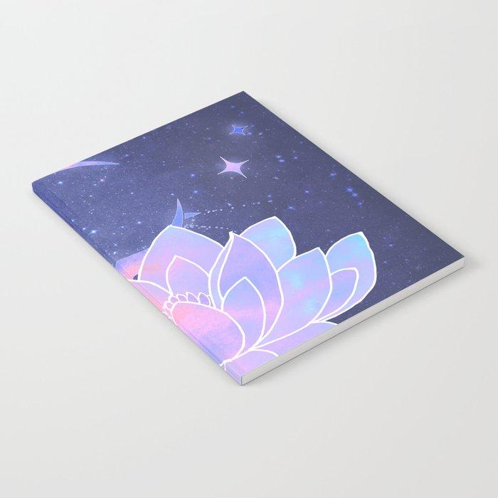 moon lotus flower Notebook