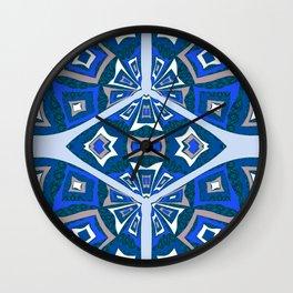 Mid Century Kalidescope Wall Clock