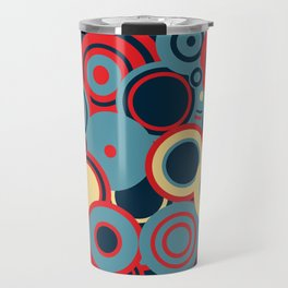 circles-red-blue-cream Travel Mug