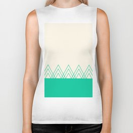 Mint Triangles Biker Tank