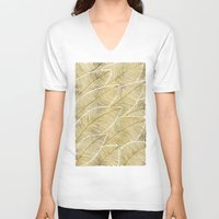 tropical V-neck T-shirts featuring Tropical Gold by Cat Coquillette