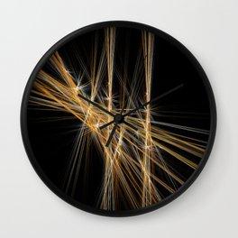 Firecracker | Geometric Line Abstract Wall Clock