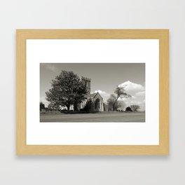 The Parish Church of St Andrew | B&W Framed Art Print