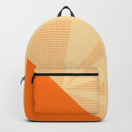 Geometric orange grid collage Backpack