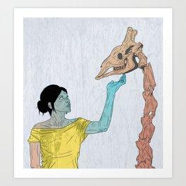 do not touch dead animals - giraffe Art Print