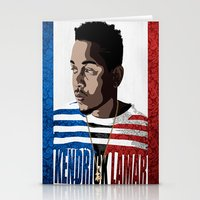 kendrick lamar Stationery Cards featuring Kendrick  by Tecnificent