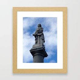 Statue at Sleepy Hollow Cemetary Framed Art Print