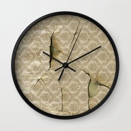 OLD WALLPAPER Wall Clock