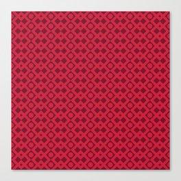 Geometric Diamonds and Circles - Red Hues Canvas Print
