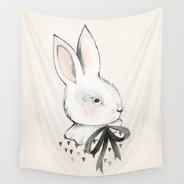 BUNNY & BOW Wall Tapestry