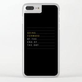 Going Forward Clear iPhone Case