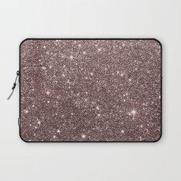 Modern mauve burgundy rose gold glitter Laptop Sleeve
