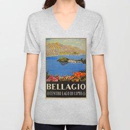 Italy Bellagio Lake Como Unisex V-Neck