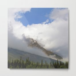 Rocky Mountains Wrapped in Epic, Luxurious Clouds Metal Print