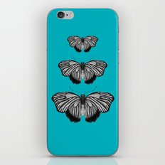 Butterflies on Teal iPhone Skin