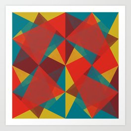 Triangular Pattern #4 Art Print