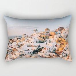 Dreaming at Dusk   Santorini, Greece Rectangular Pillow