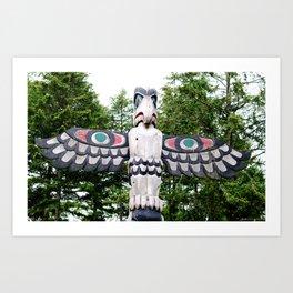 Alaskan Totem - Eagle Art Print