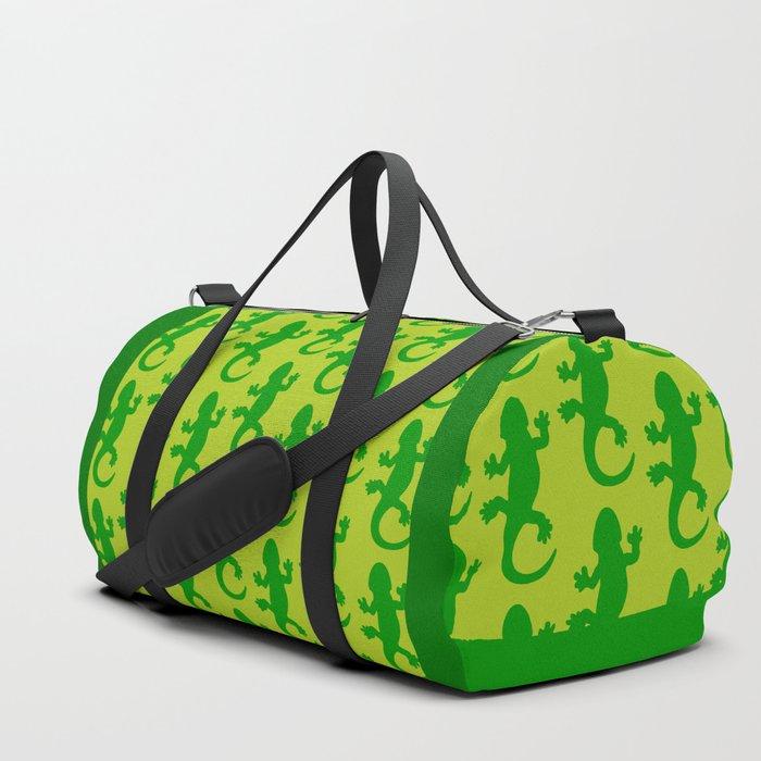 Green Lizard Duffle Bag
