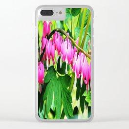 Bleeding Hearts Clear iPhone Case