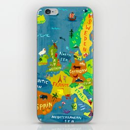 Map of Europe iPhone Skin