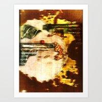 ramen Art Prints featuring ramen by meredith w ochoa