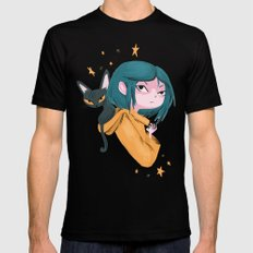 Twitchy, Witchy Girl X-LARGE Black Mens Fitted Tee