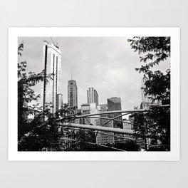 The Chicago Skyline Art Print