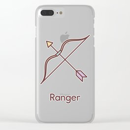 Cute Dungeons and Dragons Ranger class Clear iPhone Case