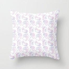 Marceline and Bubblegum Pattern Throw Pillow