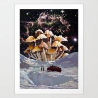 psychadelic Art Prints featuring Alice in Wonderland by Blaž Rojs